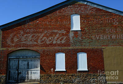 Vintage Coca Cola Ghost Sign Art Print by Paul Ward