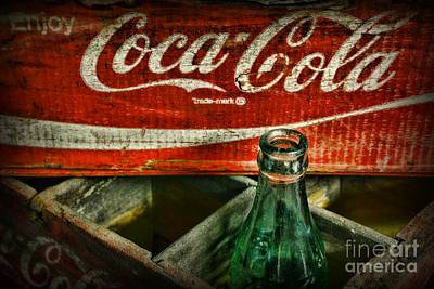 Antique Bottles Photograph - Vintage Coca-cola by Paul Ward