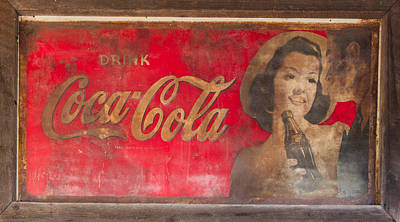 Photograph - Vintage Coca Cola Sign by Roger Mullenhour