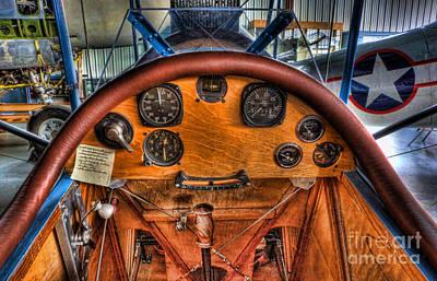 Photograph - Vintage Cockpit - Flight Instruments by Lee Dos Santos