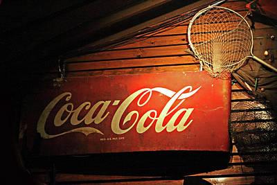 Vintage Coke-cola Sign Art Print by Linda Phelps