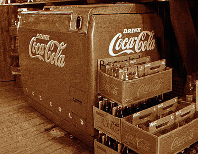 Photograph - Vintage Coke Cooler With Cartons by David Lee Thompson