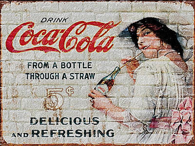 Coca-cola Sign Painting - Vintage Coke Sign by Jack Zulli