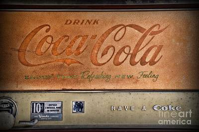 Vintage Coke Vending Machine Art Print by Paul Ward