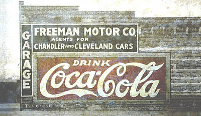 Photograph - Vintage Cola Sign Mural by Ann Powell