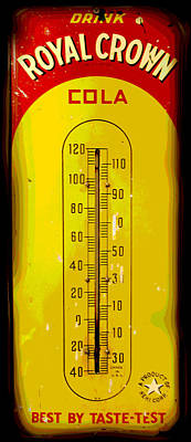 Digital Art - Vintage Cola Thermometer by Ann Powell