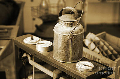 Art Print featuring the photograph Vintage Creamery In Sepia by Lincoln Rogers