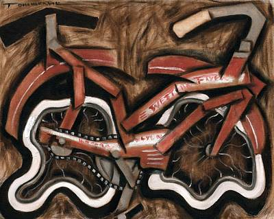 Painting - Vintage Cruiser Bicycle Art Print by Tommervik