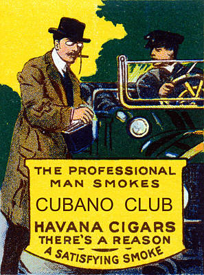 Painting - Vintage Cubano Club Cigars by Historic Image