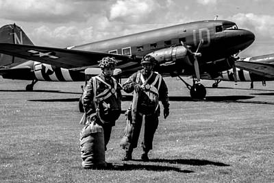 Spitfire Photograph - vintage D Day  by Martin Newman