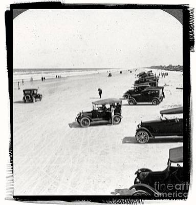 Vintage Daytona Beach Florida Art Print by Edward Fielding