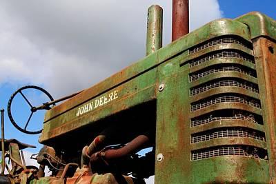 Tractor Photograph - Vintage Deere by Heather Allen