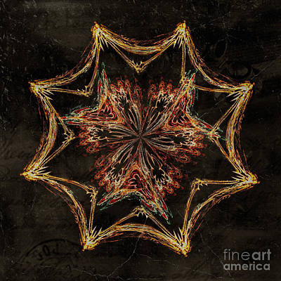 Digital Art - Vintage Design Fractal Star By Kaye Menner by Kaye Menner