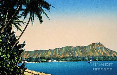 Photograph - Vintage Diamond Head by Hawaiian Legacy Archive