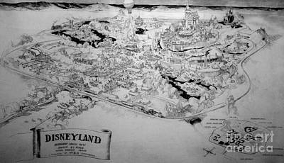 Digital Art - Vintage Disneyland Layout by David Millenheft