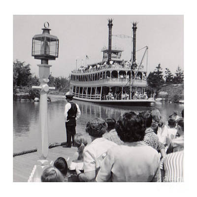 Photograph - Vintage Disneyland Riverboat Ride 1958 by Connie Fox