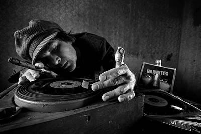 Bw Photograph - Vintage Dj by Mario Grobenski -