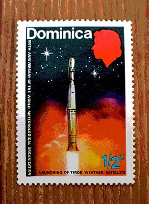 Photograph - Vintage Dominica Stamp by Deena Stoddard