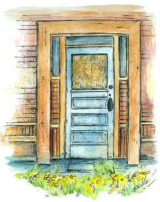 Drawing - Vintage Door by Cathie Richardson