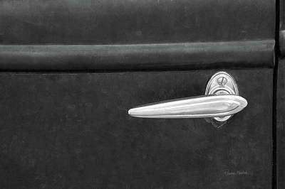 Retro Car Photograph - Vintage Door Handle by Ramona Murdock