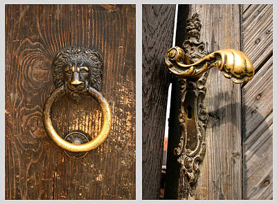 Photograph - Vintage Door Knocker And Handle  by Emanuel Tanjala