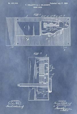 Vintage Door Lock Patent Art Print by Dan Sproul