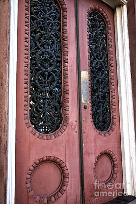 Red School House Photograph - Vintage Doors In Charleston by John Rizzuto