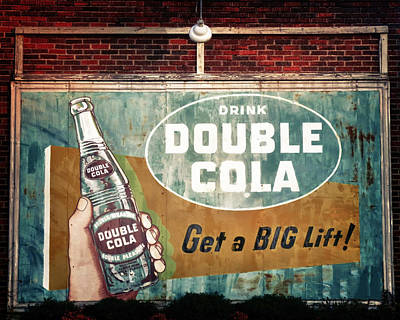 Turquoise And Rust Photograph - Vintage Double Cola Sign by Tony Grider