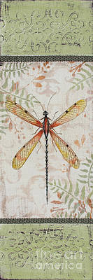 Vintage Dragonfly-jp2563 Original by Jean Plout
