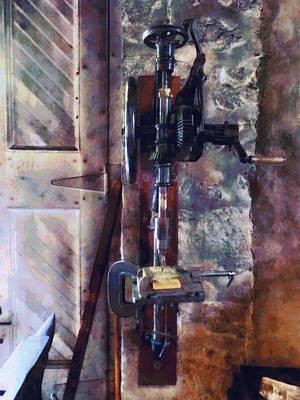 Machine Shops Photograph - Vintage Drill Press by Susan Savad
