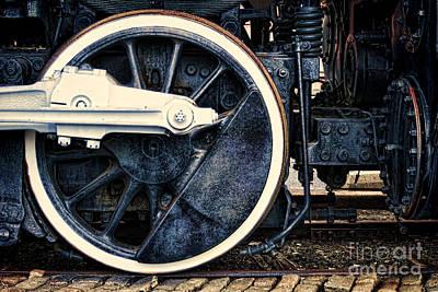 Photograph - Vintage Drive Wheel by Olivier Le Queinec