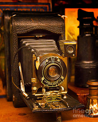 Photograph - Vintage Eastman Kodak Folding Camera by Jerry Cowart