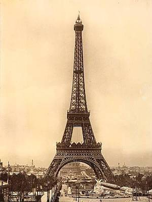 Photograph - Vintage Eiffel Tower by Julie Butterworth
