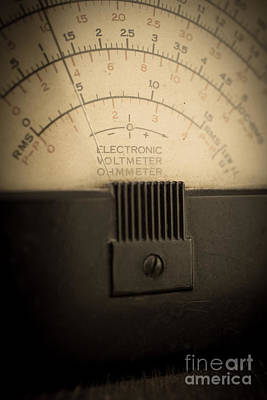 Antique Look Photograph - Vintage Electric Meter by Edward Fielding