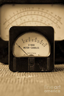 Radio Control Photograph - Vintage Electrical Meters by Edward Fielding