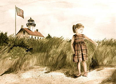 Painting - Vintage Ella At East Point  by Nancy Patterson