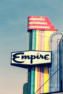 Photograph - Vintage Empire Theater Sign by Edward Fielding