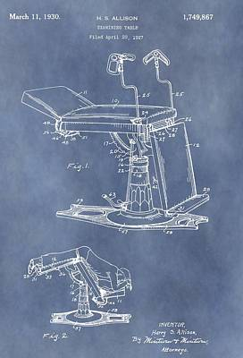 Physician Mixed Media - Vintage Examination Table Patent by Dan Sproul