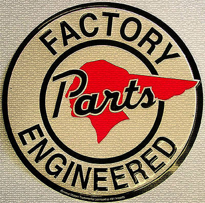 Digital Art - Vintage Factory Parts Engineered Metal Sign by Marvin Blaine