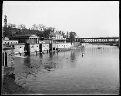 Vintage Fairmount Waterworks Philadelphia Art Print by Bill Cannon