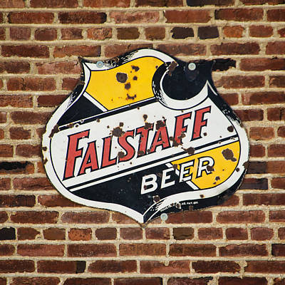 Photograph - Vintage Falstaff Beer Shield Dsc07192 by Greg Kluempers
