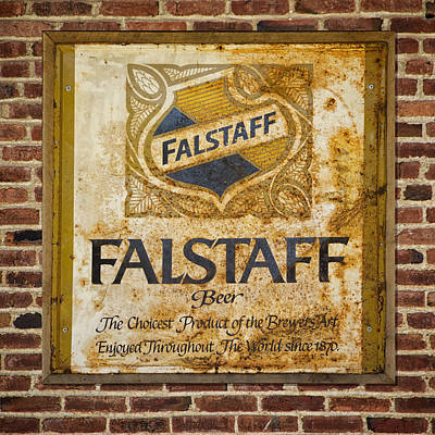 Photograph - Vintage Falstaff Beer Sign Square Dsc07179 by Greg Kluempers