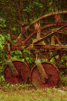Shed Painting - Vintage Farm Equipment by Jack Zulli