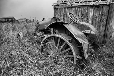 Vintage Farm Tractor Art Print by Theresa Tahara