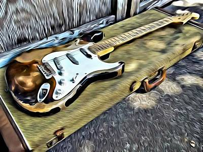 Painting - Vintage Fender Stratocaster by Florian Rodarte
