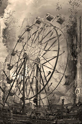 Photograph - Vintage Ferris Wheel by Theresa Tahara