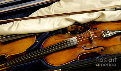 Photograph - Vintage Fiddle In The Case by Wilma  Birdwell