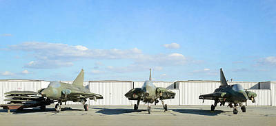 Photograph - Vintage Figher Jets by Fraida Gutovich