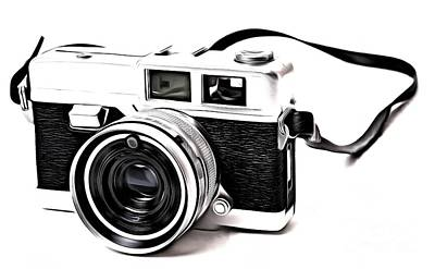 Pop Art Royalty-Free and Rights-Managed Images - Vintage Film Camera Pop by Edward Fielding