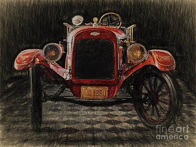Vintage Fire Truck  ... Art Print